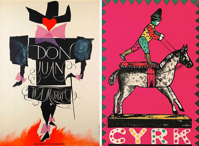 Roman-Cieslewicz-affiche-don-juan-1961-le-cirque-1962