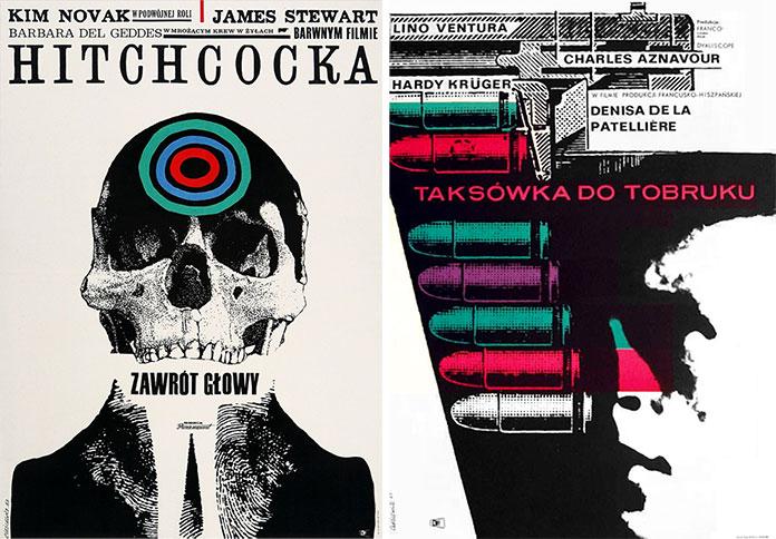 Roman-Cieslewicz--affiche-vertigo-1963-un-taxi-pour-tobrouk-1963