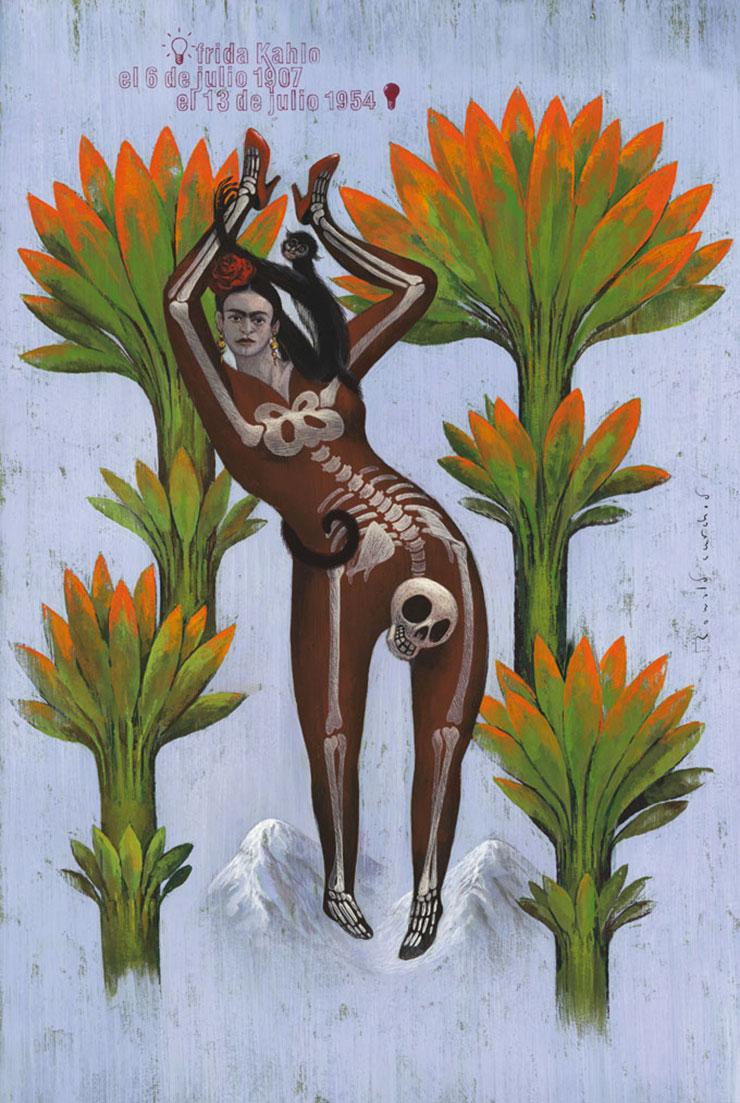 Ronald-Curchod-affiche-frida-Kahlo-
