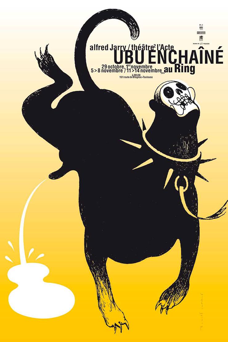 Ronald-Curchod-affiche-ubu-enchaine-ring-theatre-2014