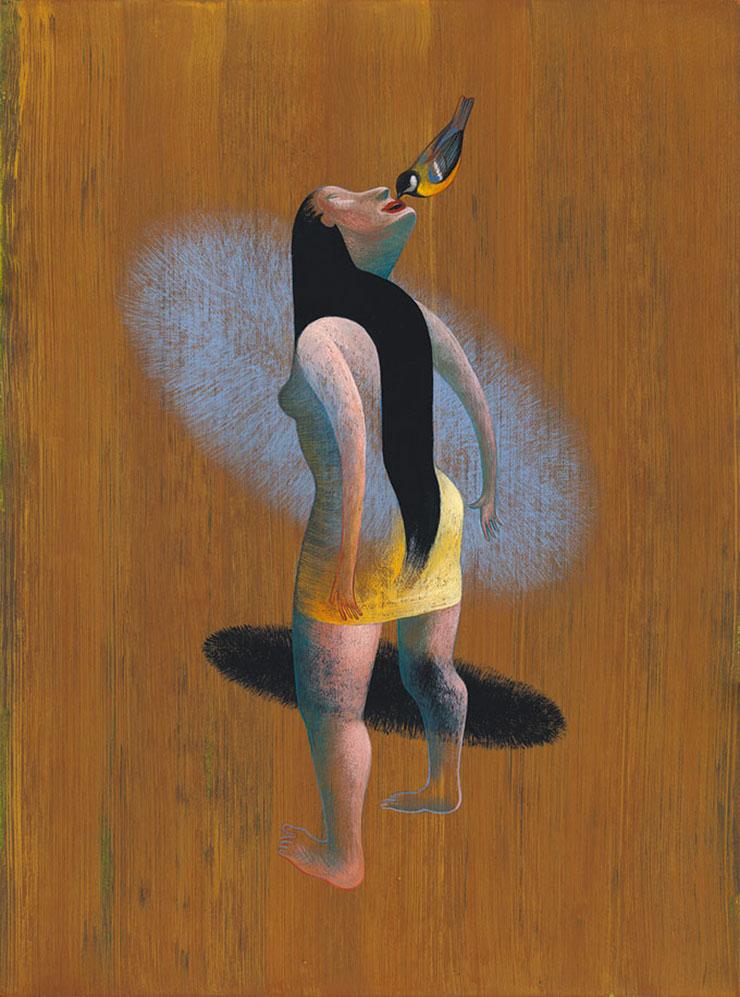 Ronald-Curchod-peinture-visage-oiseau