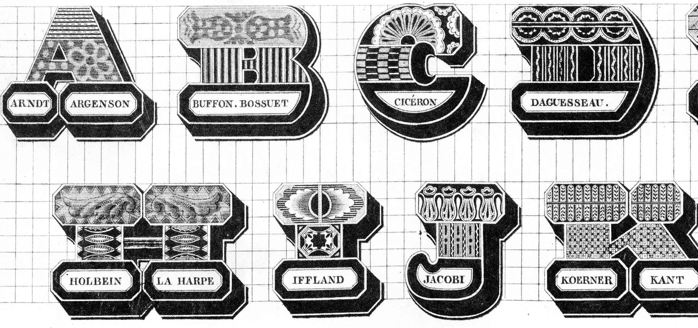 Spécimen des écritures modernes – Jean Midolle