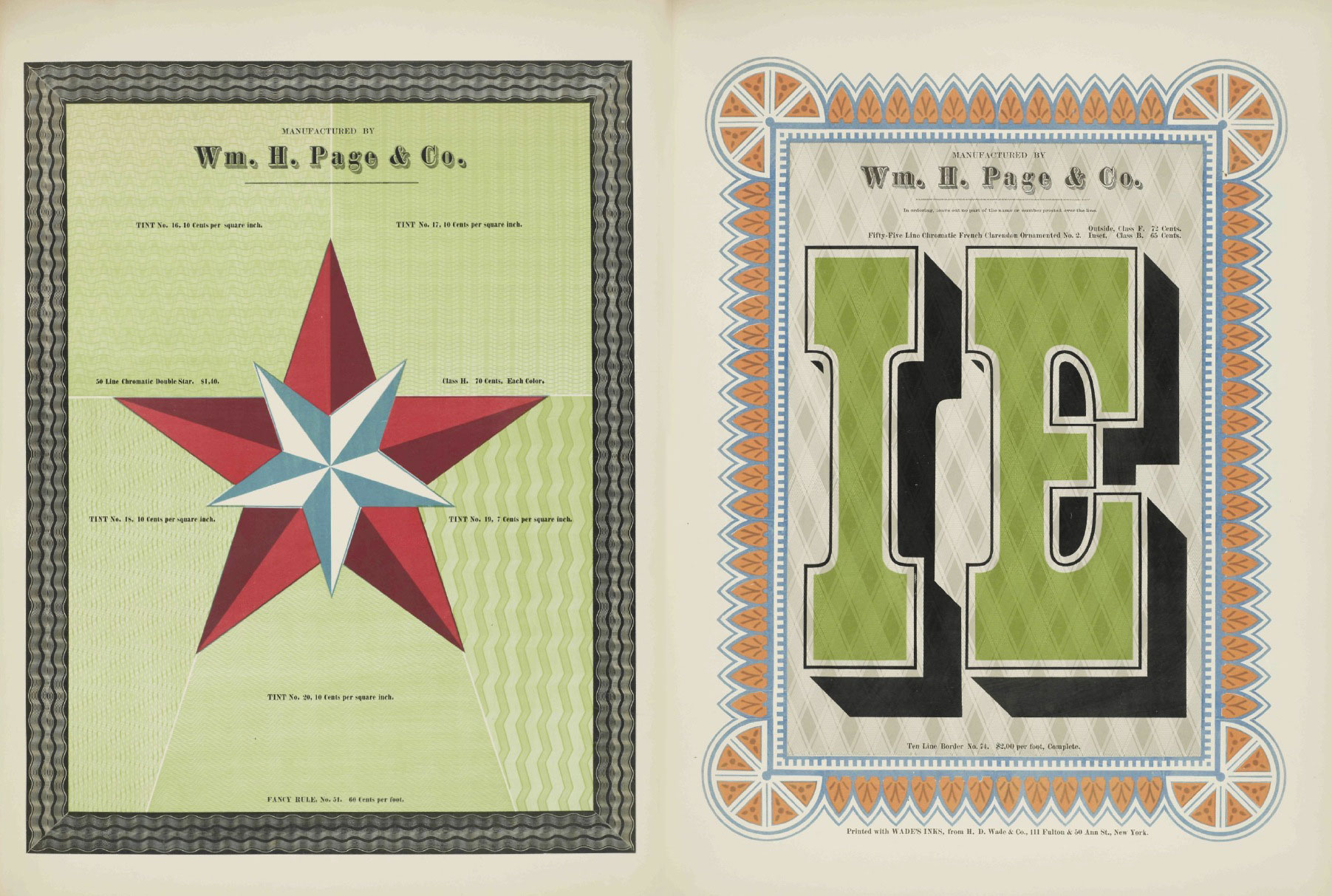 Specimens of chromatic wood type – 1874