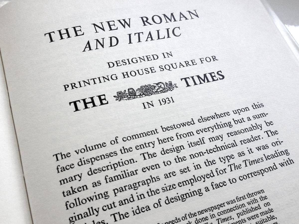 Stanley Morison et le Times