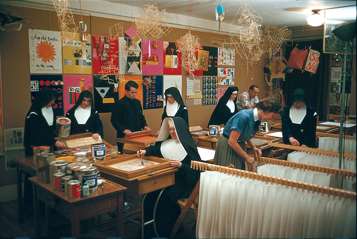 The-Art-Department-at-The-Immaculate-Heart-College-1955