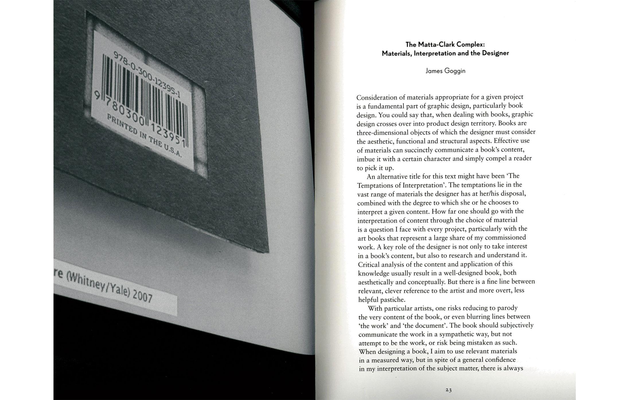 The-Matta-Clark-Complex-Materials-Interpretation-and-the-Designer-essai-James-Goggin-The-Form-of-the-Book-Book-1