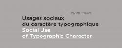 Usages sociaux du caractère typographique