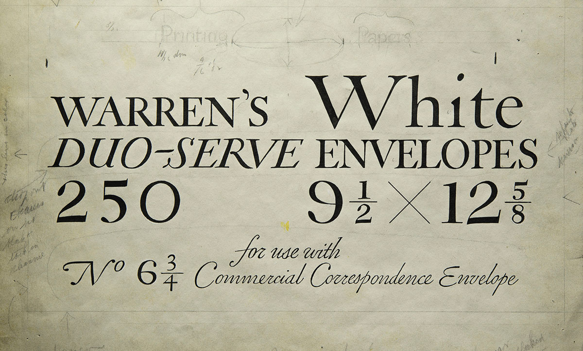 William-Addison-Dwiggins-Original-lettering-package-Warren-s-Paper1925