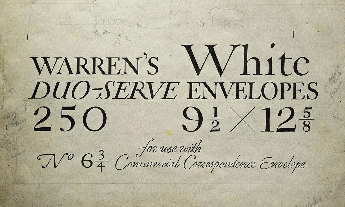 William-Addison-Dwiggins-Original-lettering-package-Warren-s-Paper1925