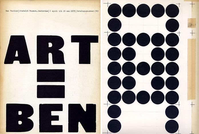 Wim-Crouwel-catalogue-Ben-Vautier-Art-=-Ben-1973 Basisvorm