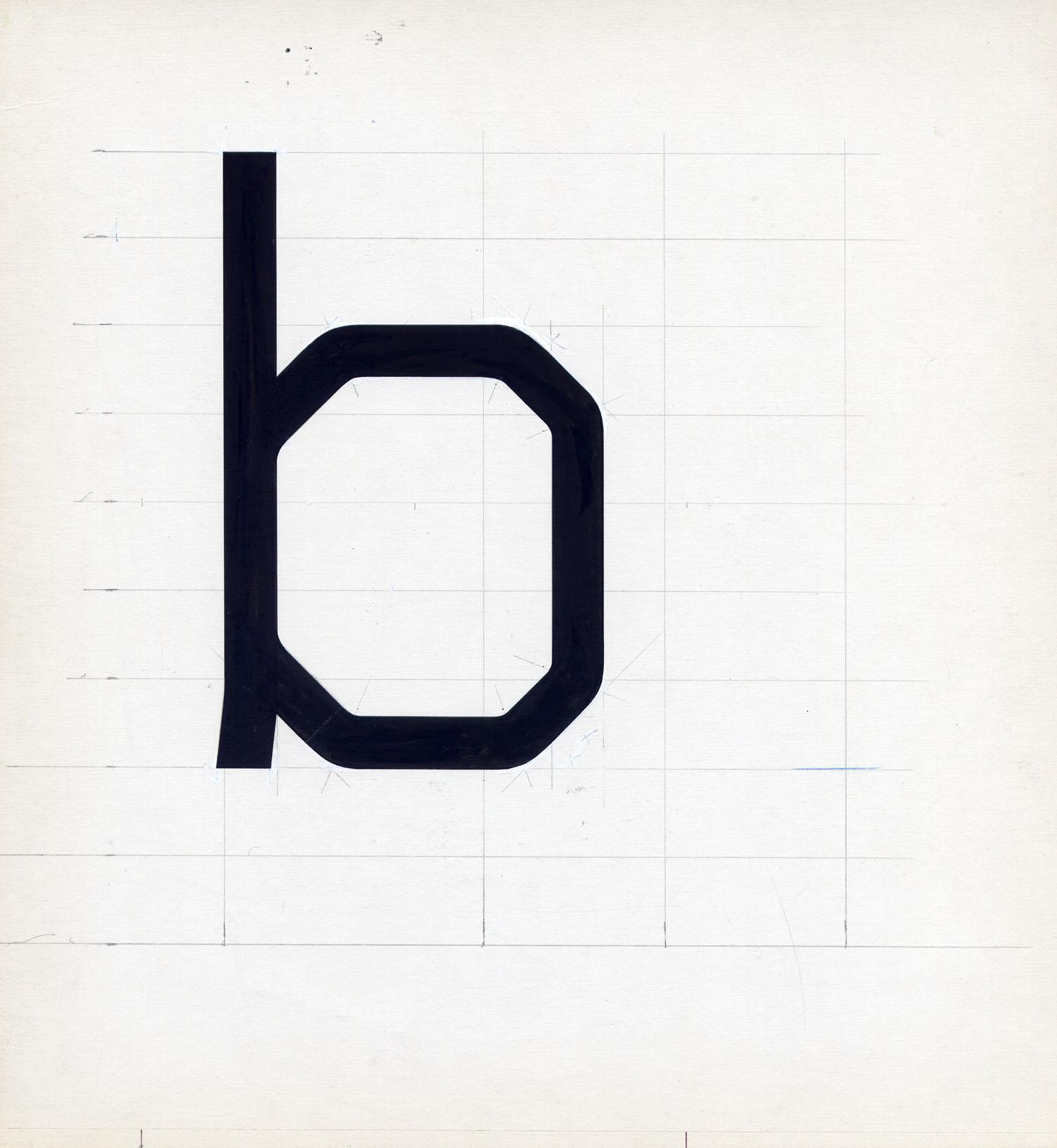 Wim Crouwel croquis typographie Gridnik 1967