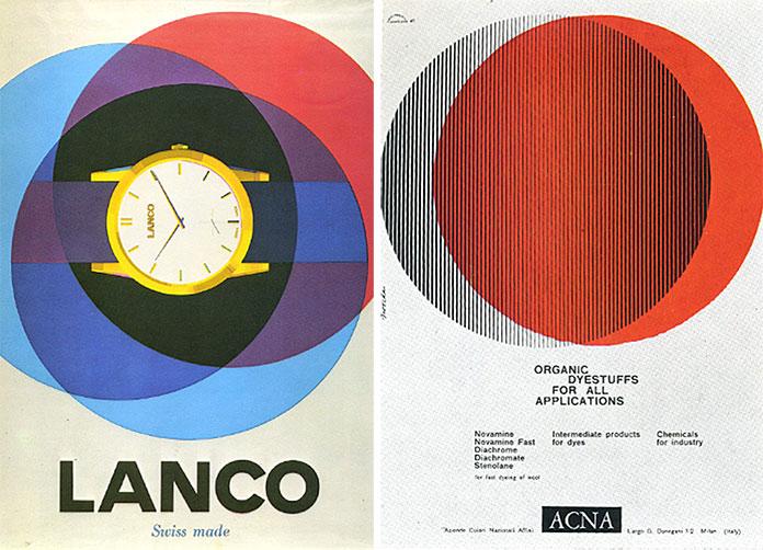 bob-noorda-Lanco-montres-1956 ACNA-Montecatini-1961
