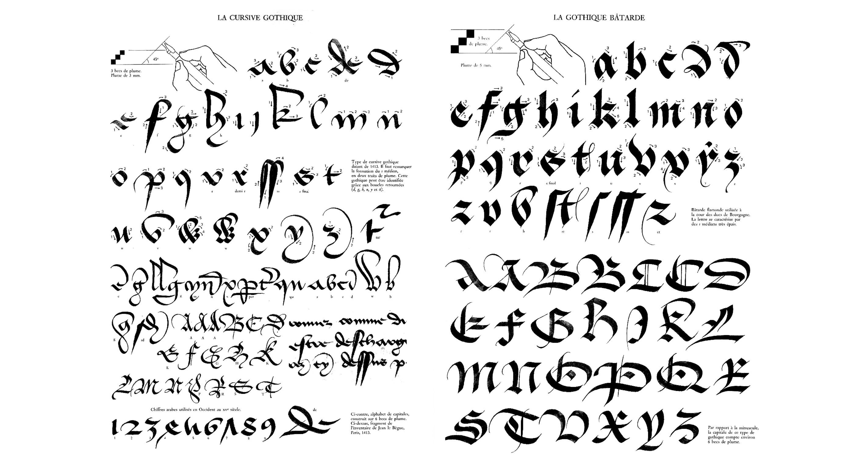 claude-mediavilla-calligraphie-cirsive-gothique-gothique-batarde-nb
