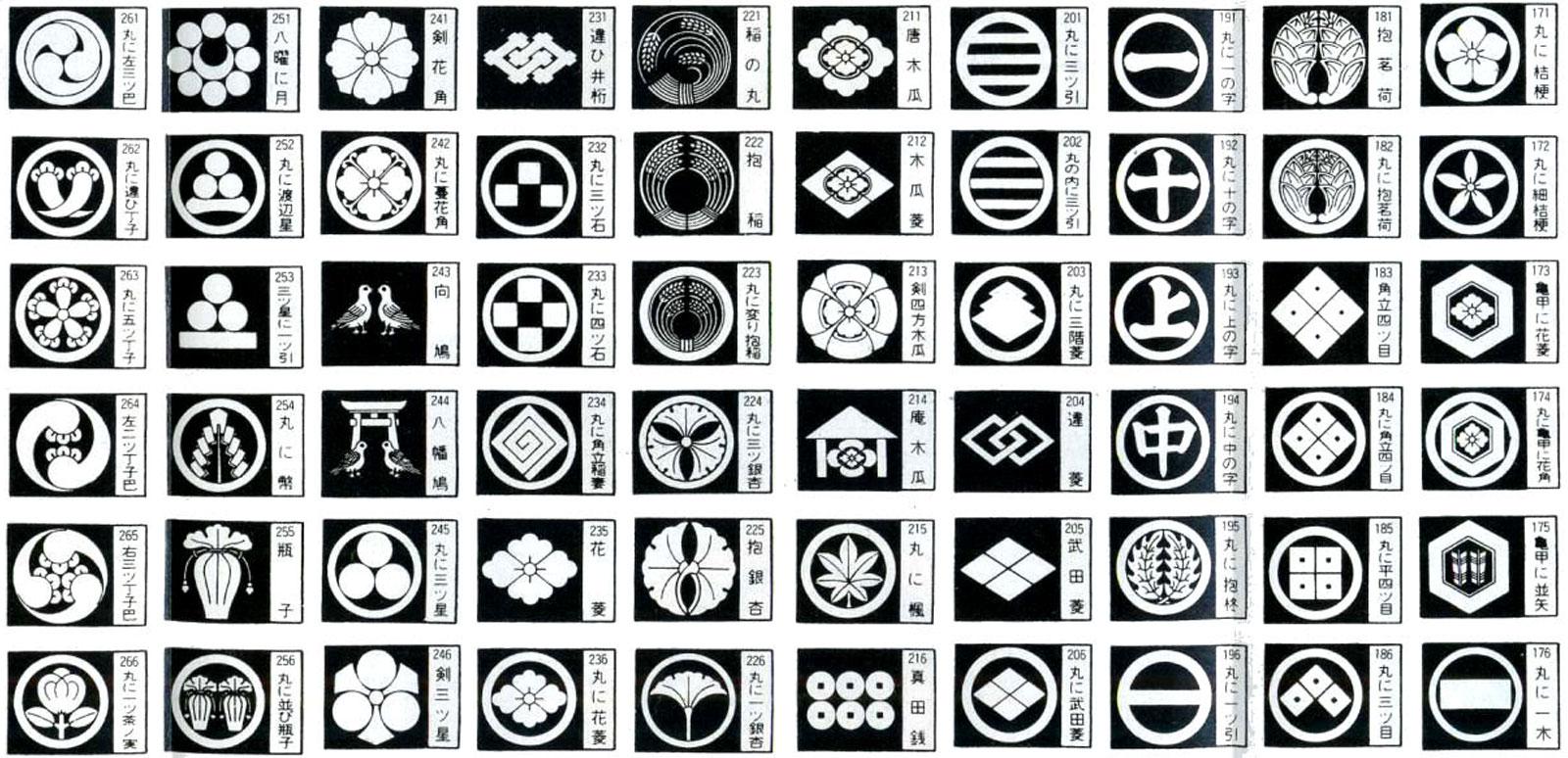 Extrêmement mon-japon-symbole-emblemes-famille-liste-02 – Index Grafik NF26